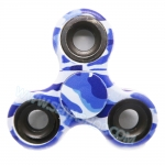 HF073 Hand spinner - GYRO (ไจโร) -Fingertip Gyroscope Basic ลายทหาร สีฟ้า