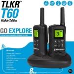 วิทยุรับส่ง วอคกี้ทอคกี้ Motorola TLKR 60 แพคคู่ (พร้อมแท่นชาร์ท)
