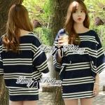 Lady Rebecca Minimal Chic Striped Cotton Jersey Set L129-69C06