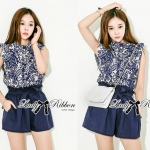 DS-PP-038 Lady Mitchel Sophisticated Flower Print Set