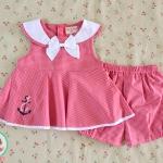 ไซส์ 3-6,6-9 เดือน ชุดเสื้อผ้าเด็กผู้หญิง โบว์ขาว