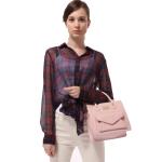 กระเป๋าหนังสีหวานในโทนพาสเทล กระเป๋าแบบ messenger bag