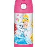 New Disney Princess Palace Pet Thermos Stainless Steel Kid Funtainer Straw Bottle