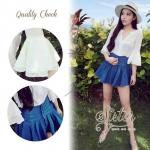 Blue Jean Set with white beauty style S144-85C05