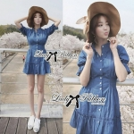 DR-LR-101 Lady Marissa Modern Country Denim Shirt Dress