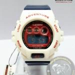 นาฬิกาข้อมือ US Submarine ระบบดิจิตอลหน้าปัดใหญ่ สีขาวสายสีน้ำเงิน กันน้ำ 30 เมตร