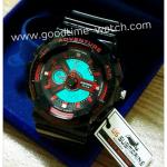 นาฬิกาข้อมือ us submarine 2ระบบ (ดิจิตอล&เข็ม) สีดำแดง จอขาว ไซส์Baby-G กันน้ำ 30 เมตร