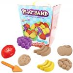 P121 ทรายนิ่ม Soft Sand Play Sand Fruit ทรายคละ 3 สี น้ำหนักรวม 800 กรัม พร้อมอุปกรณ์