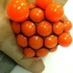 PB001 ลูกบีบ สีส้ม เด้งได้บีบสนุกมือ