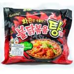 MM005 มาม่าเกาหลีซัมยัง ฮ็อตชิกเค่นสตูว์ราเมง (ราเมงสำเร็จรูปในน้ำซุปรสสตูว์ไก่เผ็ด)