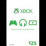 บัตร Xbox Live 25USD