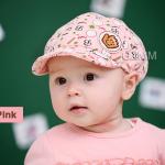 หมวกแก๊ปเด็ก ไซส์ 3-6 เดือน สีชมพู