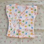 ไซส์ 0-3 เดือน เสื้อผูกหน้าแขนสั้น ผ้า Cotton 100%