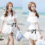 DR-LR-069 Lady Lara Sweet Casual Cotton Lace Mini Dress