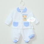 Tiny Baby ชุดเสื้อแขนสั้น กางเกงหุ้มเท้า ไซส์แรกเกิด