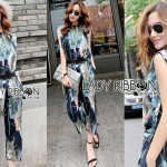 Lady Edith Tropical Printed Sleeveless Top and Pants Set L273-6918