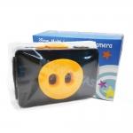 TY078 กล้องทอย Toy Camera โลโม่ 2 เลนท์ สีส้ม-ดำ ไม่ต้องใช้ถ่าน ใช้ฟิล์ม 35mm (ฟิลม์ซื้อแยกต่างหาก)