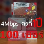 True Unlimited 4Mbps 1Year 100 เบอร์