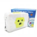 TY082 กล้องทอย Toy Camera โลโม่ 3 เลนท์ สีเขียว-ขาว ไม่ต้องใช้ถ่าน ใช้ฟิล์ม 35mm (ฟิลม์ซื้อแยกต่างหาก)