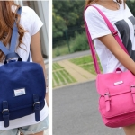 กระเป๋าเป้สไตล์เกาหลี &#x266B ้เป็นเป้ผ้าแคนวาส