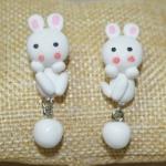 ต่างหู DIY กระต่ายน้อยสีขาว