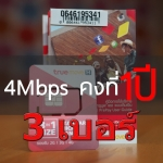 True Unlimited 4Mbps 1Year 3 เบอร์