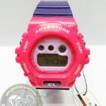 นาฬิกาข้อมือ US Submarine ระบบดิจิตอลหน้าปัดใหญ่ สีชมพูหน้าปัดสีม่วง กันน้ำ 30 เมตร