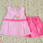 ไซส์ 3-6 เดือน ชุดเสื้อผ้าเด็กผู้หญิง ตารางชมพู
