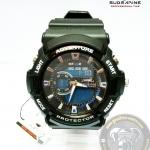 นาฬิกาข้อมือ US Submarine 2ระบบ (ดิจิตอล&เข็ม) สีดำหน้าปัดน้ำเงิน กันน้ำ 30 เมตร