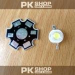 หลอด LED 3W White+เพลท