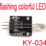 Automatic flashing colorful LED module KY-034