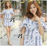 DR-LR-076 Lady Paully Blooming Bouquet Cut-Out Dress