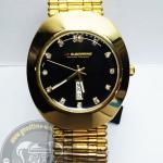 นาฬิกาข้อมือ US Submarine ระบบอนาล็อก รุ่น J137M DD สีทองหน้าปัดดำ กันน้ำ 30 เมตร