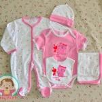 ไซส์ 6-9 เดือน เซ็ตเสื้อผ้าเด็กอ่อน 5 ชิ้น