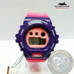นาฬิกาข้อมือ US Submarine ระบบดิจิตอลหน้าปัดใหญ่ สีม่วงหน้าปัดสีชมพู กันน้ำ 30 เมตร