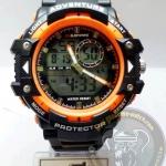 นาฬิกาข้อมือ US Submarine 2ระบบ (ดิจิตอล&เข็ม) สีดำขอบส้ม รุ่น TP3168M กันน้ำ 30 เมตร