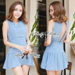 DR-LR-051 Lady Nana Sexy Back Mini Dress