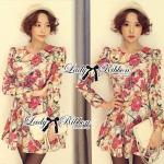 DR-LR-047 Lady Jida Nasty Floral Mini Dress