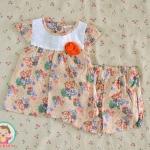 ไซส์ 3-6,6-9 เดือน ชุดเสื้อผ้าเด็กผู้หญิง วินเทจ