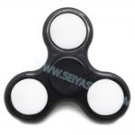 HF038 Hand spinner - GYRO (ไจโร) -Fingertip Gyroscope Basic มีไฟ 3 step สีดำ