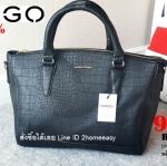 กระเป๋า Mango Croc Tote Bag หนัง สุดคลาสิค ทรงสุดหรู New Collection ยี่ห้อ MANGO TOUCH แท้ กระเป๋านำเข้า