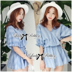 DR-LR-096 Lady Eugene Baby Blue Bohemian Dress