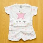 [ไซส์ 3-6,6-12 เดือน] ชุดนอนเด็กเล็กแขนสั้น ขาสั้น ผ้านิ่ม