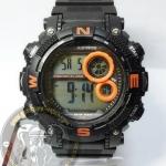 นาฬิกาข้อมือ US Submarine ระบบดิจิตอล รุ่น TP1331M สีดำส้ม กันน้ำ 30 เมตร