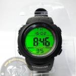 นาฬิกาข้อมือ AQUA กันน้ำ พร้อมหน้าจอสะท้อนแสดงสีเขียว