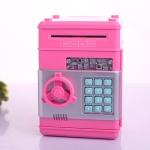 KA008 กระปุกออมสิน ตู้เซฟ ดูดเงินอัตโนมัติ สีชมพู