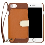 RAKUNI PU Leather Case Book Type with Strap for iPhone 7 ( Brown )