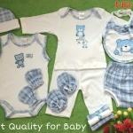 เซทเด็กเล็ก 12 ชิ้น สีฟ้า ไซส์ 0-3 เดือน
