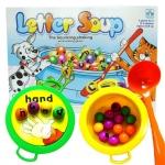 BO037 Letter soup เกมส์บอร์ด เสริมพัฒนาการ เกมส์ซุปตักตัวอักษรเรียนรู้คำศัพท์ ฝึกภาษาอังกฤษ