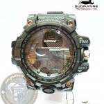 นาฬิกาข้อมือ US Submarine 2ระบบ (ดิจิตอล&เข็ม) สีดำจอดำ กันน้ำ 30 เมตร
